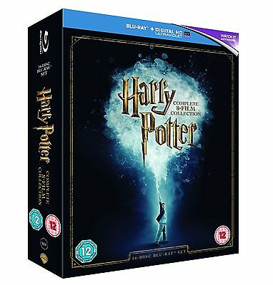 """Harry Potter The Complete Collection 16 Discs Box Set Blu-Ray Rb """"New&Sealed"""""""