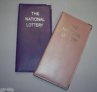 New Leather Lottery Ticket Holder Lotto Euro Millions Scratchcard Wallet Sleeve