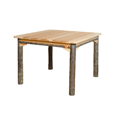 """Hickory Solid or Expandable Top Dining Table - 42"""" to 108"""" - Oak Options"""