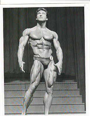 FRANK ZANE Mr America /Mr Universe Muscle Bodybuilding Photo B+W
