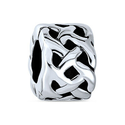 Bling Jewelry 925 Silver Celtic Knots Bead Charm