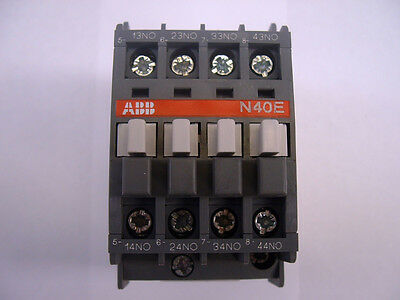 ABB N40E.  Contactor Relay.  Din Rail or Base Mounting. 16 amp