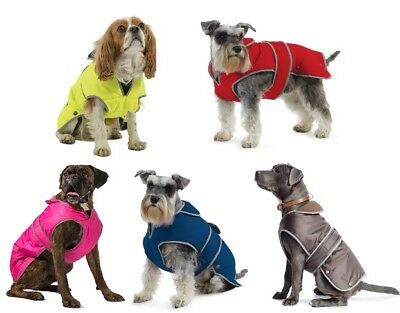 Ancol Muddy Paws Stormguard Fleece Lined Waterproof Harness Compatible Dog Coat