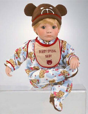 """MARIE OSMOND 2002 """"BEARY SPECIAL BABY BOY"""" 12-INCH TODDLER PORCELAIN DOLL"""