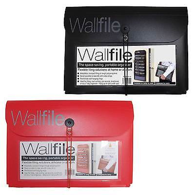 A4 Wall File / Paper Expanding Personal Organiser Hanging Conference Folder Case