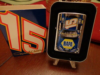 Michael Waltrip Napa #15 Car Nascar Zippo Lighter Mint In Box