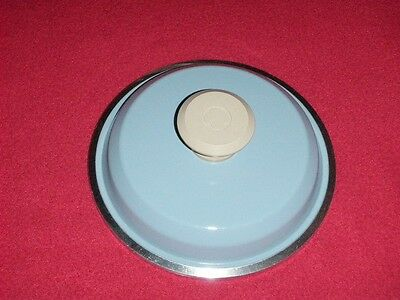 """Club Aluminum Cookware Lid 6 1/4"""" Inside and 6 7/8"""" Overall Diameter Blue"""