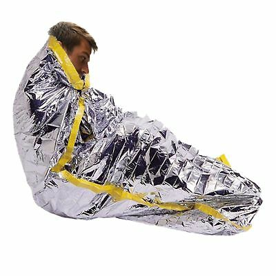 "4 Pack Emergency Mylar Solar Sleeping Bag 84"" x 36"""