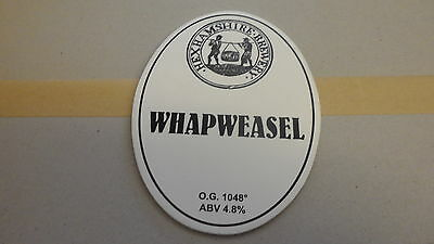 Hexhamshire Whapweasel Ale Beer Pump Clip 89