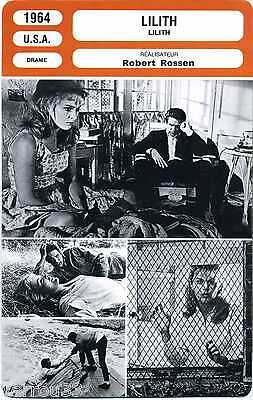 Movie Card. Fiche Cinéma. Lilith (U.S.A.) 1964 Robert Rossen