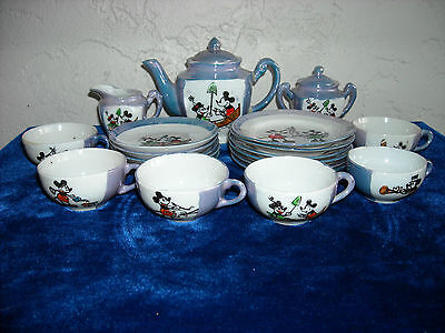 22-Piece Mickey Mouse Children's Toy Tea Set Made in Japan