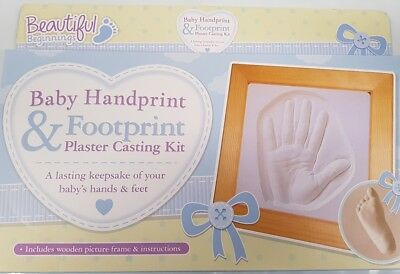 BEAUTIFUL BEGINNINGS Baby's First Handprint and Footprint Plaster Moulding Kit
