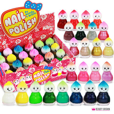 24 Bottles x Nail Polish Baby Doll Shape 24 Different Colours (Set B) Gift Box