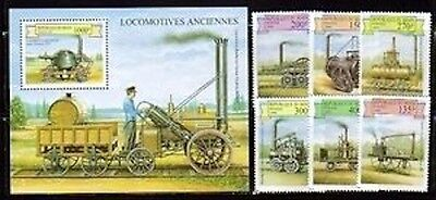 Benin 1159-65 Train Locomotives Mint NH