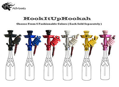 HookItUpHookah Universal Bottle Hookah Stem Kit Adapter Pick Your Color