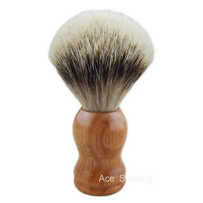 Free Shipping Merbau Red Wood Handle Silvertip Badger Hair Shaving Brush