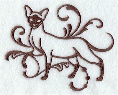 Lovely Soft Fleece Pet Blanket embroidered with a Graceful Siamese (G5216)