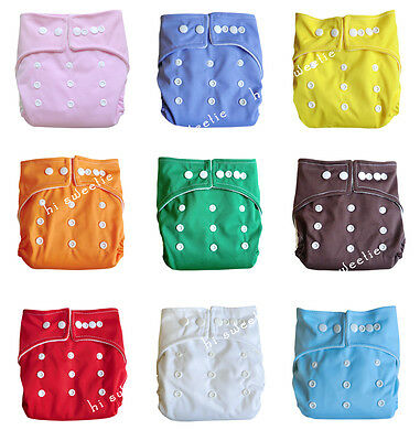 Lots Baby Infant Cloth Diapers One Size Reusable Nappy Covers Inserts 9 Colors