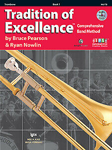 Pearson & Nowlin: Tradition of Excellence Book 1 Trombone + audio - Kjos W61T...