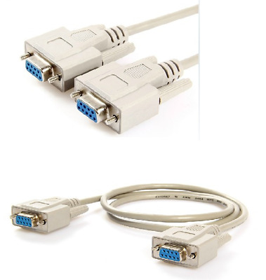 1.5m Serial RS232 Null Modem Cable Female to Female DB9 FTA DB9F/F
