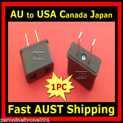 AU AUST to USA CANADA JAPAN AC Power Travel Plug Adapter Converter 1pc (Mini)