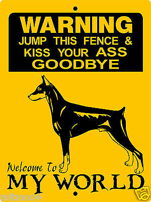 Doberman Pinscher  Dog Aluminum Sign Warning 1275A