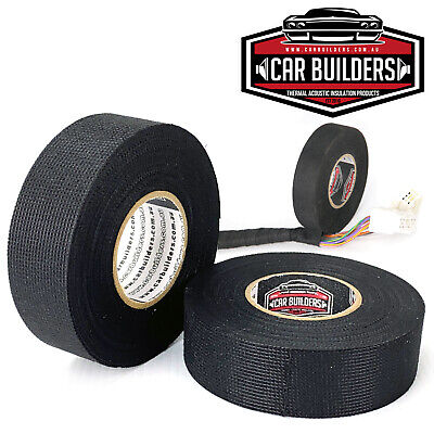 WIDE loom tape 5 x rolls - anti rattle  sound proof automotive electrical tape