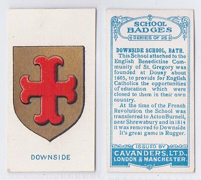 School Badges (Light Blue Back) - Cavanders 1928 - Downside