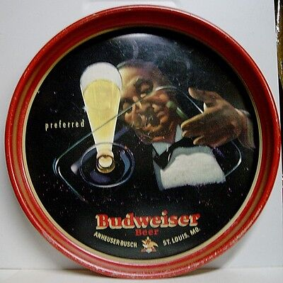 "1940's Budweiser Beer 13"" Metal Tray - St. Louis, MO"