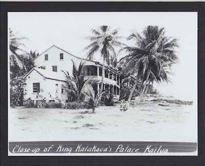 "RARE KALAKAUA KAILUA RESIDENCE HAWAII 1890's SILVER HALIDE PHOTO ON 8X10"" MATT"
