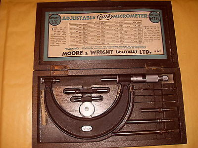 Moore & Wright No. 941MX 0-100mm Adjustable Micrometer - As Photo
