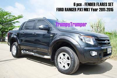 For Ford Ranger Px Xlt Xl T6 Fender Flares Flare Wheel Arch 2012 2013 2014 2015
