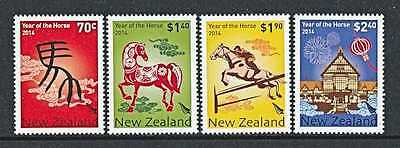 NEW ZEALAND  2014   YEAR of the HORSE   SET   MNH