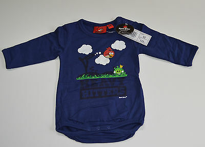 Angry Birds Baby Rompers Sizes 3-6,6-9,9-12,12-18 /& 18-24 Months BLUE NEW