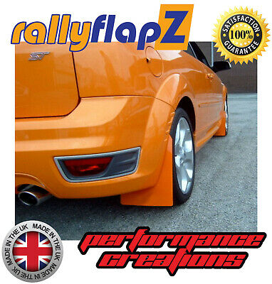 Mud Flaps to fit FORD FOCUS Mk2 ST225 RallyflapZ Mudflaps Electric Orange Kaylan