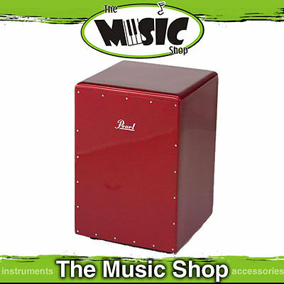 New Pearl Boom Box Cajon Drum - Red Sparkle - PCJ-633BB-630
