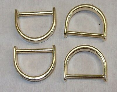 8 D-Rings flat-round gold 16mm (20x15mm) 46