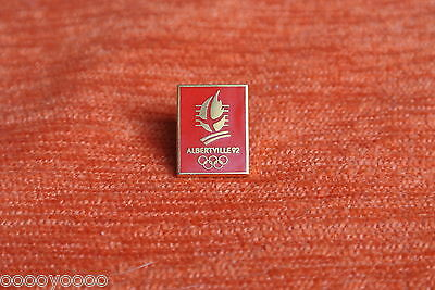 00144 PIN'S PINS JO ALBERTVILLE 92 ROUGE OLYMPIC GAMES 16x12mm