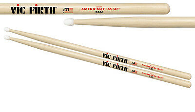 Vic Firth 7A nylon tipped  drum sticks. American hickory.