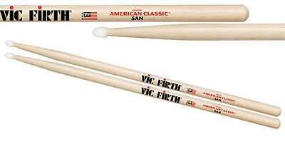 Vic Firth 5A nylon tipped  drum sticks. American hickory.