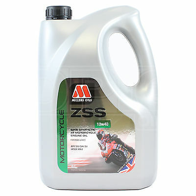 Millers Oils ZSS 10w-40 Semi Synthetic Motorcycle Engine Oil 4 LITRES 4L