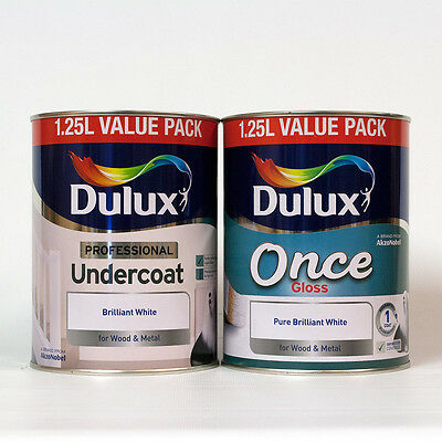 2.5L - Dulux Professional Undercoat / Once Gloss - Brilliant White - 2 x 1.25L