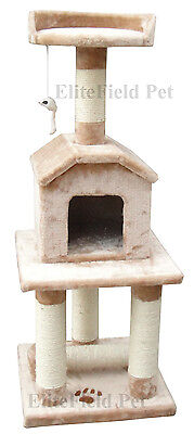 EliteField Cat Tree Furniture Condo House Scratcher Bed Toy Post EFCT-3045