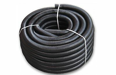19mm-50mm BLACK CORRUGATED KOIFLEXIBLE HOSE FISH POND FILTER MARINE PIPE