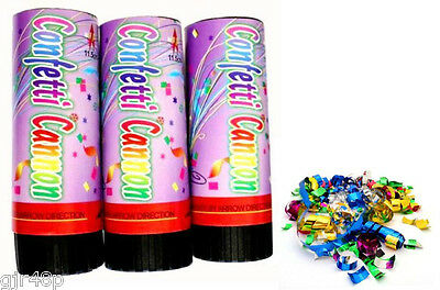 Confetti Cannon Twist Action Safely Fires Metallic Confetti Wedding Party Popper
