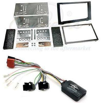 Connects2 Saab 93 08 on Double Din Fitting Kit with Stalk Steering Adaptor