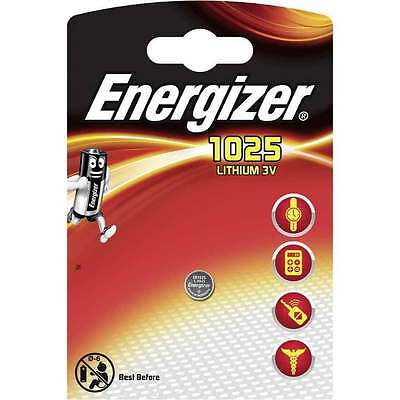2 x ENERGIZER CR1025 Batterie Lithium 3V Knopfbatterie CR 1025 Battery 30mAh NEW