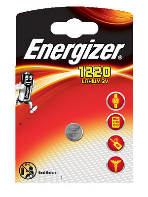 3 x Energizer  Batterie CR1220 Lithium 3V Knopfbatterie CR 1220 Battery NEW