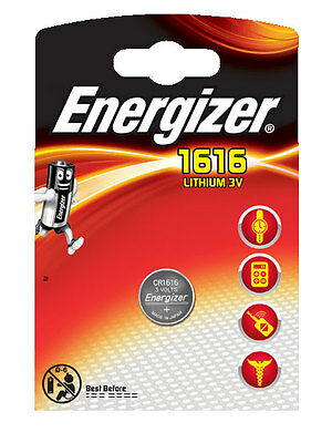 2 x Energizer  Batterie CR1616 Lithium 3V CR 1616 Knopfzelle Battery NEW
