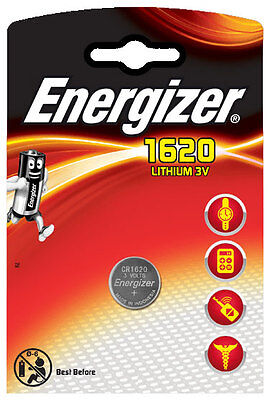 10 x Energizer Batterie CR1620 Lithium 3V  CR 1620 Knopfzelle Battery NEW